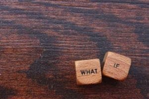 What if question on wooden blocks [shutterstocks: 393193966, Michelle Patrick]