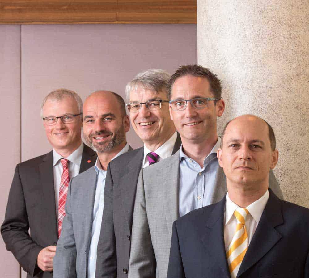 digital transformation Armin Daubmann of Fujitsu, Analyst Stephan Kaiser of PAC, Professor Heiner Diefenbach of Fujitsu, SAP/Fujitsu Customer Michael Schmidt of H. B. Fuller and Professor Key Pousttchi of Potsdam University (from l. to r.).