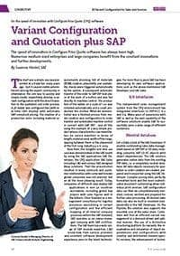 SAE Visualization for sales and service in ERP.