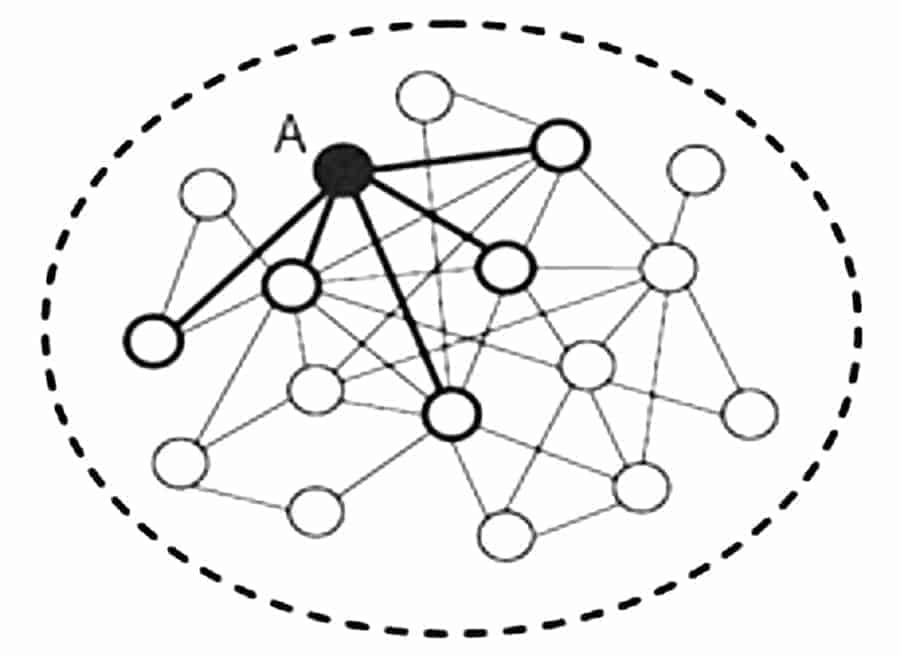 Fig. 3: Visualization of a 'Network of Projects'.