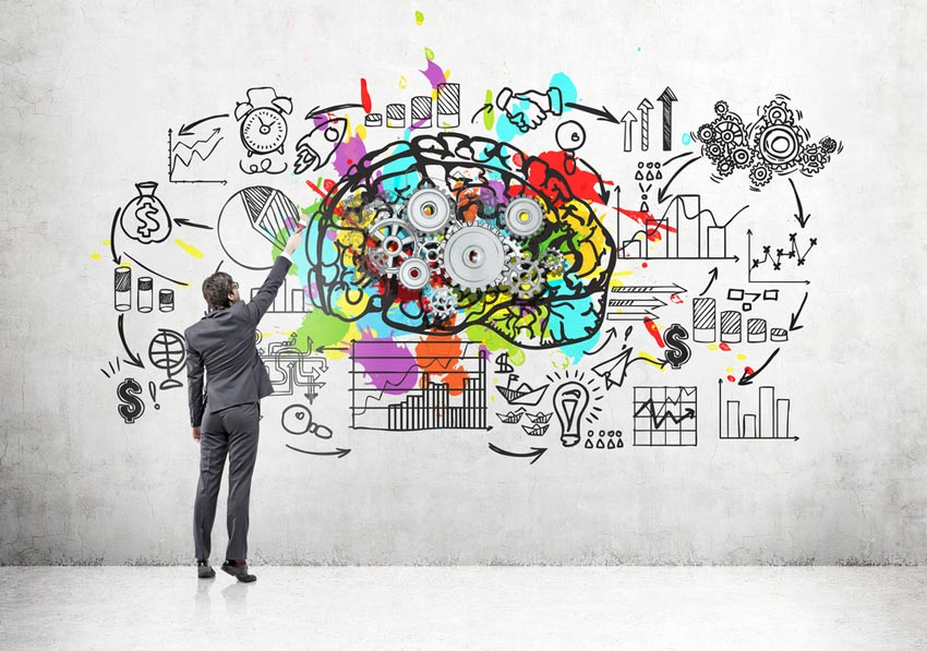 Design thinking is a structured approach to brainstorming, with a clear goal and the user as the focus. [shutterstock: 579708958, ImageFlow]