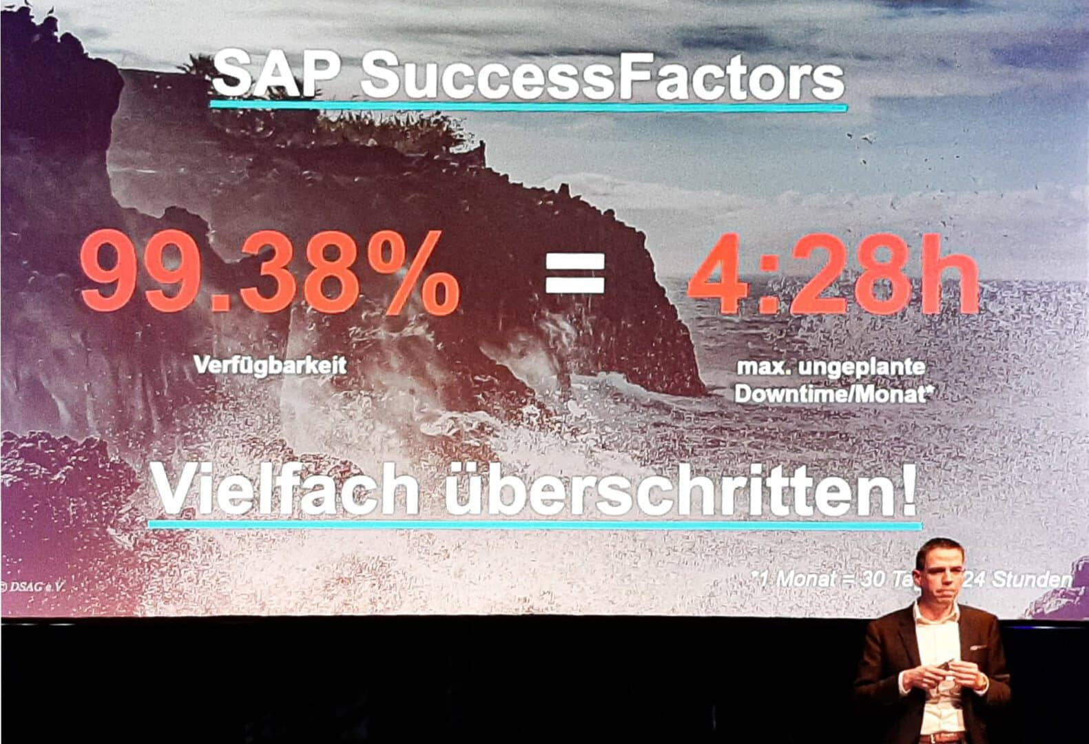 Steffen Pietsch, DSAG, during his keynote at the DSAG Technology Days 2020 // Presentation Slide © DSAG