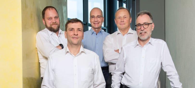 Seeburger's management (fLTR): Axel Otto, Michael Kleeberg, Axel Haas, Martin Kuntz, Matthias Fessenbecker.