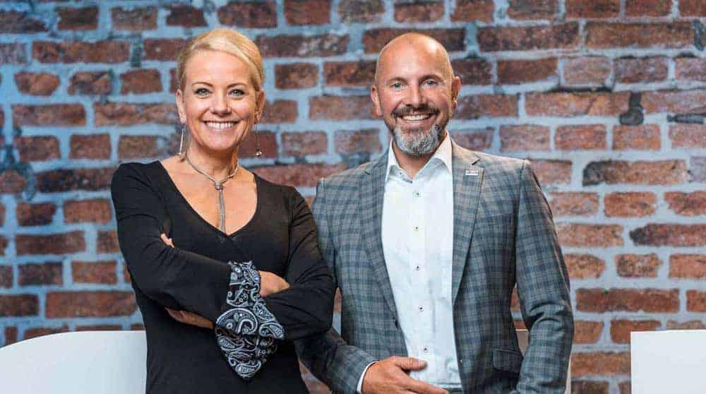 Sonja Telscher (l.) and Bjoern Dunkel, both GIB