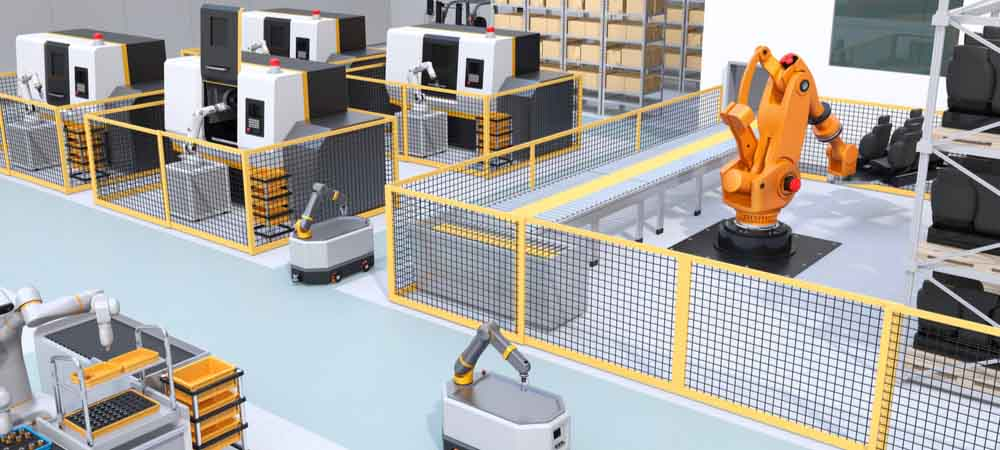 fetch robotics warehouse autonomous robots [shutterstock: 1519822025, Chesky]
