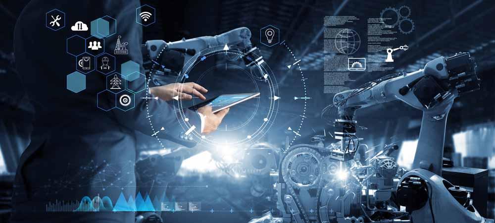 digital manufacturing IT value smart factory [shutterstock: 1341095657, PopTika]